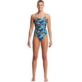 Funkita Diamond Back One Piece Badpak Dames, boarded up